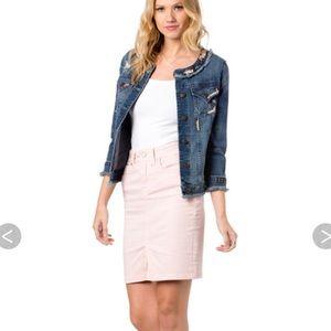 🆕Gorgeous Miss Me🌸Dusty Pink slim jean skirt